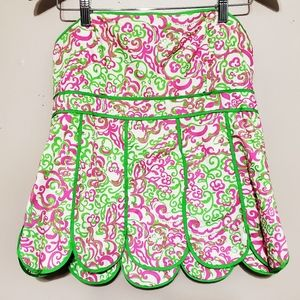 Lilly Pulitzer Pink and Green Tube Top